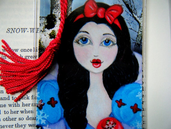Snow White Art Print Bookmark, Fairy Tales, Fantasy, Storybook Art, Reproduction  Art, Children's Art, Children's Bookmark