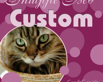 Custom Cuddly cat snuggle bed - Color of your choice