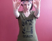 KATHLEEN HANNA REBEL GIRL Hand Stenciled Shirt - 1X