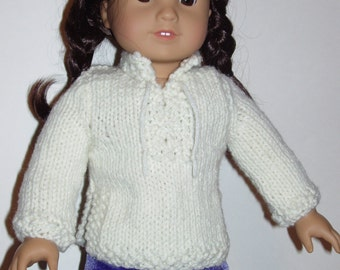 PDF Knit Pattern - Tunic sweater for doll