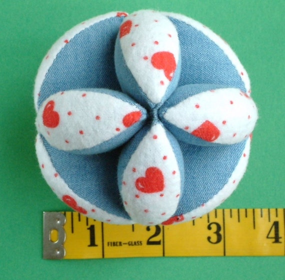 RESERVED for maryklarson Two Amish Patchwork Sweetheart Puzzle Balls