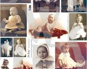Little ones Digitally enhanced collage sheet