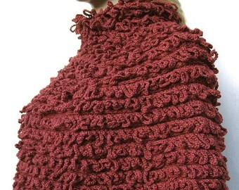 Russet Sweater Poncho Loop Design