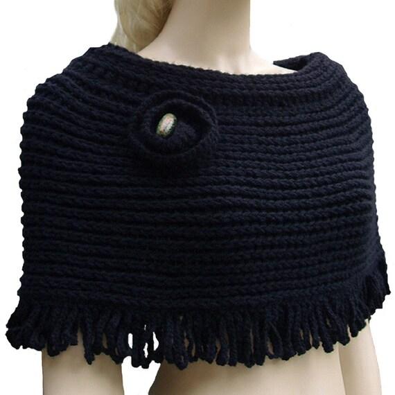Maeva - Black Poncho Shoulder Warmer