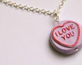 Purple Loveheart Necklace