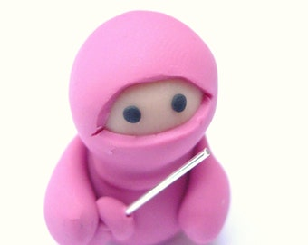 Little Dusky Pink Ninja with Sword