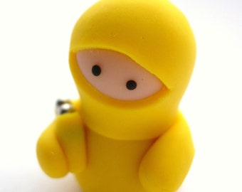 Little Yellow Ninja with Nunchucks