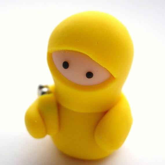 Little Yellow Ninja with Nunchucks