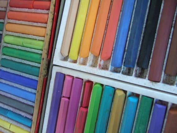 VINTAGE Dustless Colored Chalk 48 pieces Crayola and Amaco