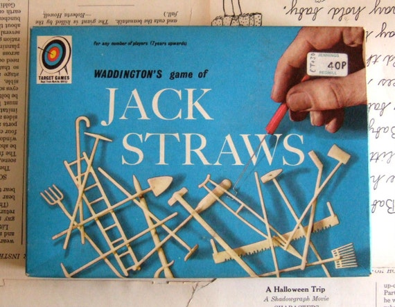 VINTAGE Waddingtons Game of JACK STRAWS by Parker Brothers 1960s