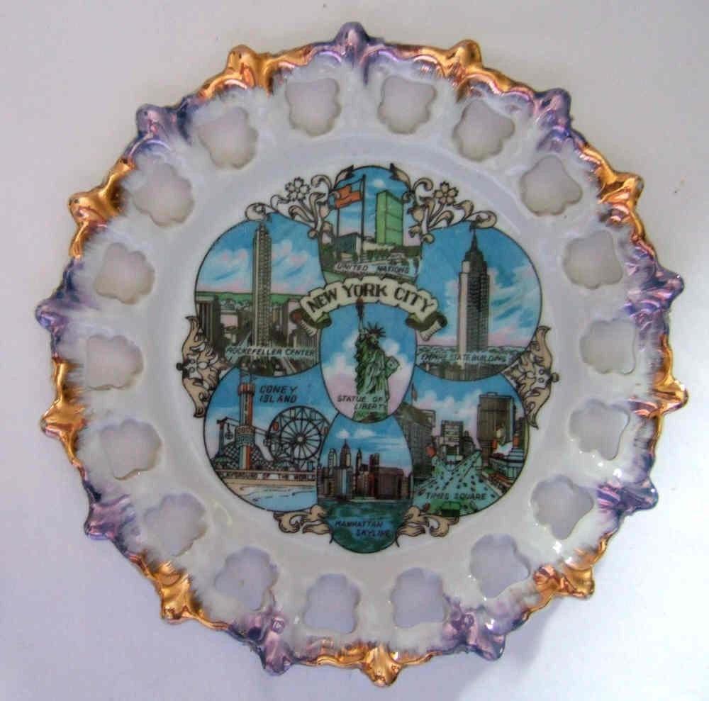 Vintage Souvenir New York City Plate Porcelain By Jennyelkins