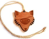 Wooden Fox Forest Necklace nature woodland