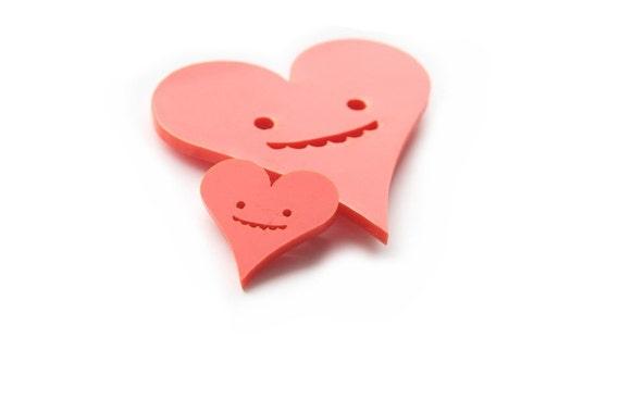 Goofy Heart Brooch (Small)