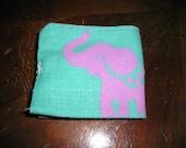 pink elephant wallet vintage lining