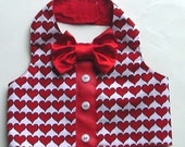 Dog Clothes Valentine Vest : For Your Lover Boy