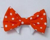 Dog Bow Tie: Tangerine Polka Dot All Sizes