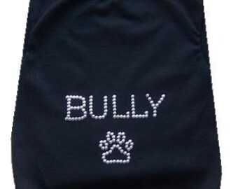 Dog clothes  Funny Dog Shirt  BULLY tank for the Bulldog