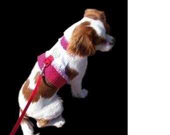 Dog Harness Vest: Crystal Strawberry Design