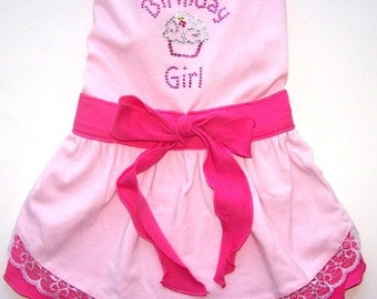 Dog Clothes Birthday Girl Dog Dress Sizes Small Med Large XLarge