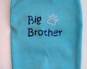 Big Brother Dog Tank Dog clothes pet shirt Great for gender reveal parties