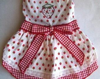 Dog Dresses Summer small dresses cute dog dresses Strawberry Sundress for Dogs