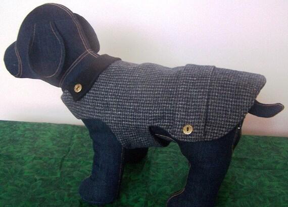 Dapper Houndstooth Dog Coat