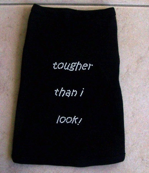 Tougher Than I Look Dog Tank in Black
