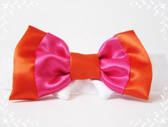 Wedding Dog Bow Ties: Color Combos Custom White or Black Satin Collar