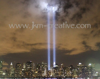 WTC 2010 LIGHT TRIBUTE  8 x 10 Original JuliArtz Photographic Print