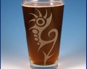 Pint Glass - Spiked Arrows - Custom Etched and Personalized Barware