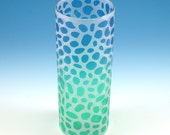 River Rocks Highball Glass - Frosted and Painted Glassware - Custom Made to Order Barware