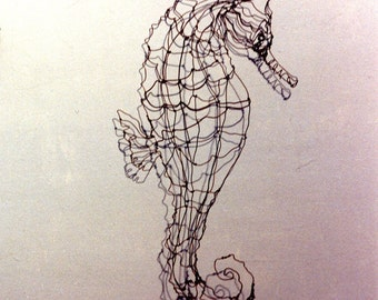 Seahorse--Wire Drawing Sculpture art