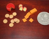 Miniature Dollhouse cheese and crackers