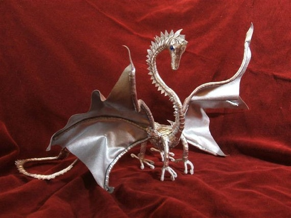 Silver Leather Dragon AMAZING SALE PRICE