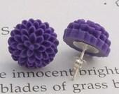 Phlox Chrysanthemums Post Earrings