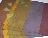 Six Triangles Place Mats - Set of 4