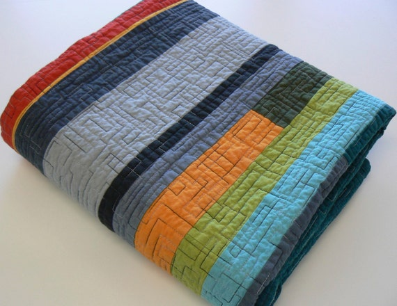 Mid Century Modern Crib Quilt By Quiltsbydesign On Etsy