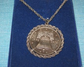 vintage 1976 bicentennial coin necklace