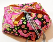 Pink Paisley Small Lotus Bag