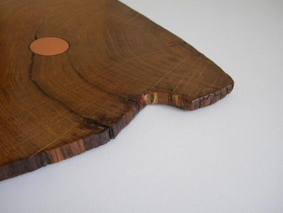 HMS Victory  wooden oak coaster with original copper rivet