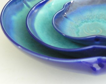 Nesting Bowl Set - Cobalt and Turquoise