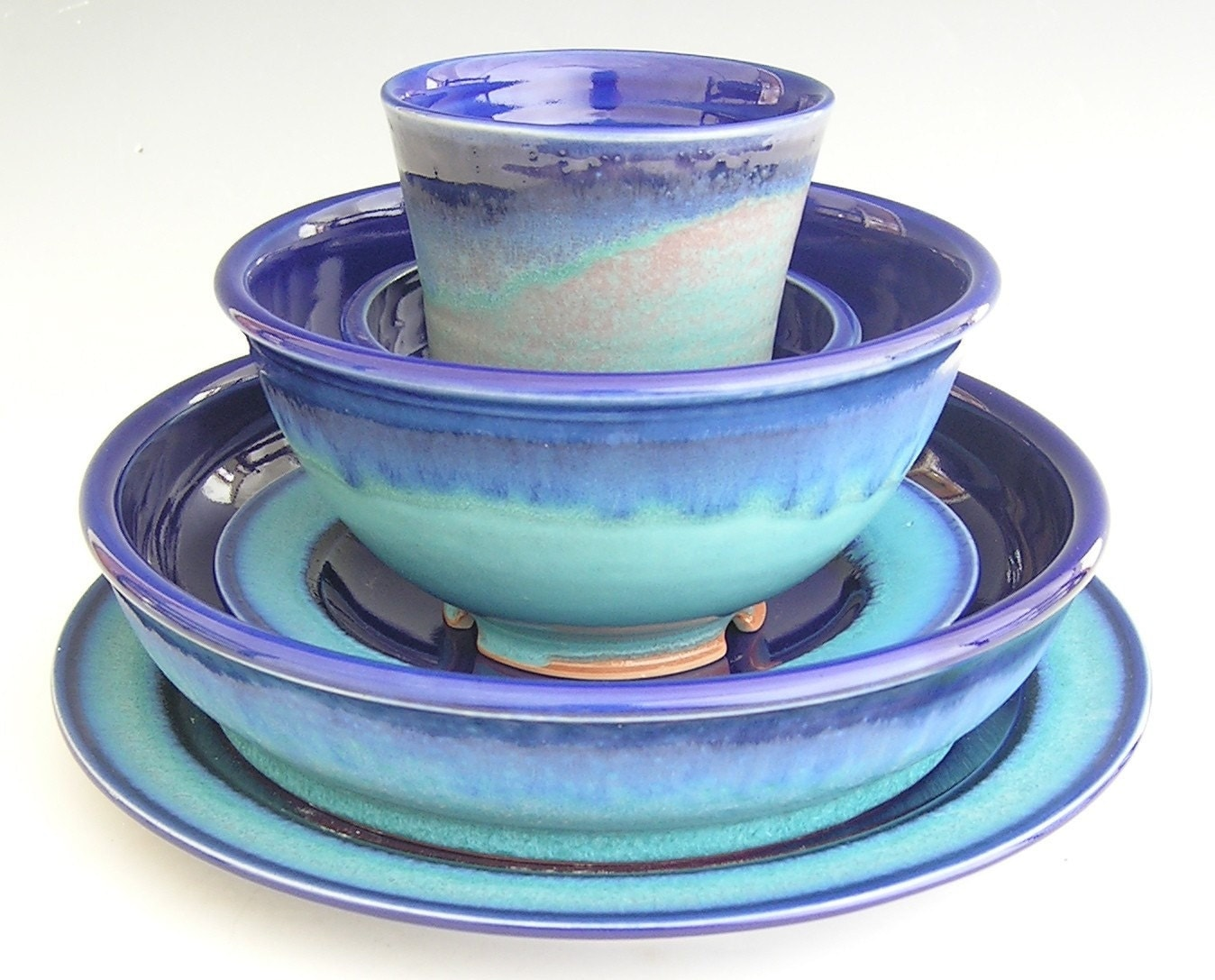 Ceramic Dinnerware Set Made to Order by clearmountaincraft
