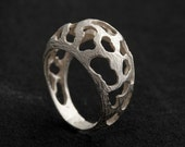Collette Sterling Silver Funky Organic Statement Ring