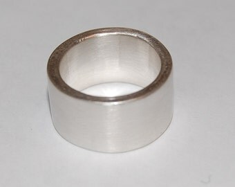 Sexy Satin Sterling Silver Band