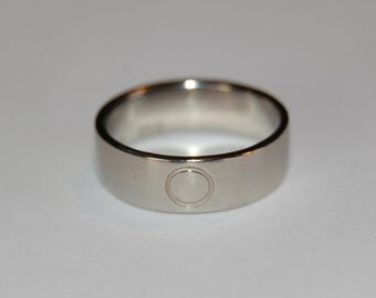 8mm Wide Rose Gold Eternity  Wedding Commitment Band