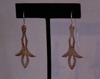 New Nouveau Sterling Silver Dangling Earrings