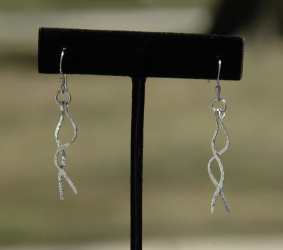 Dangling thread Silver Earrings
