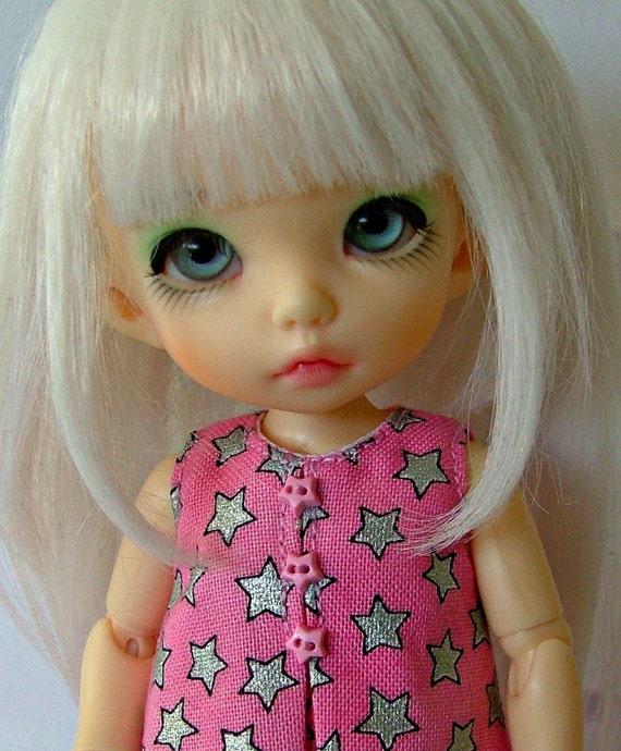 SALE Silver Stars dress for lati yellow and pukifee