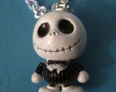 Jack Skellington, Nightmare Before Christmas Necklace, custom chain length