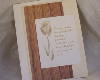 Blank Beauty Of Friendship Greeting Card With Verse On The Front
